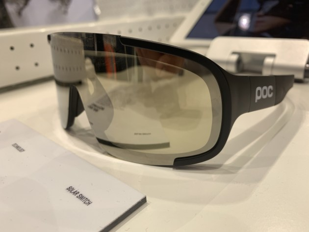 Electronic POC cycling eyewear that detect sudden changes in light and transition accordingly.