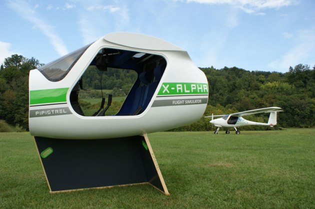 Pipistrel's X-Alpha virtual reality simulator. (Pipistrel)