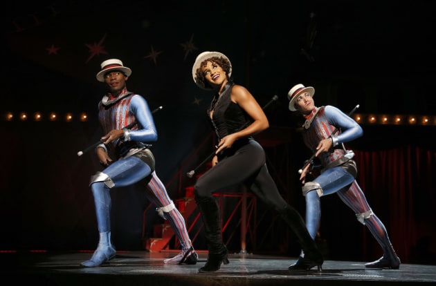 'Pippin' Tour Borris York, Gabrielle McClinton, Mathew deGuzman  Photograph by Joan Marcus