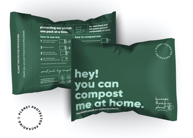 PIDA 2020 Sustainable Packaging Design Special Award finalist: Planet Protector Packaging for the home compostable mailer pouch.