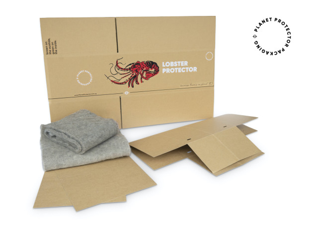 PIDA 2020 Food Category and Sustainable Packaging Design Finalist: Planet Protector Packaging for the Lobster Protector.