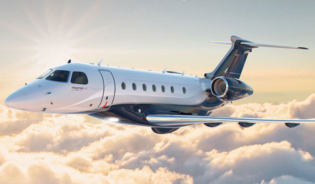 An impression of Embraer's new Praetor 600 executive jet. (Embraer)