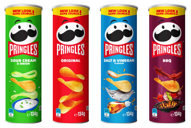 Pringles has had a brand refresh for the first time in 20 years.