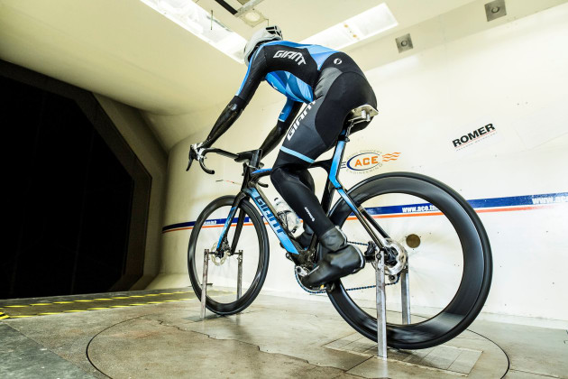 Wind-tunnel tests on the new Propel Disc range reveal a lower drag coefficient at a wider range of yaw angles than its non-disc-brake predecessor. Image: Damien Droz