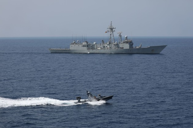 The USV successfully defended a NATO ship against a swarm attack.