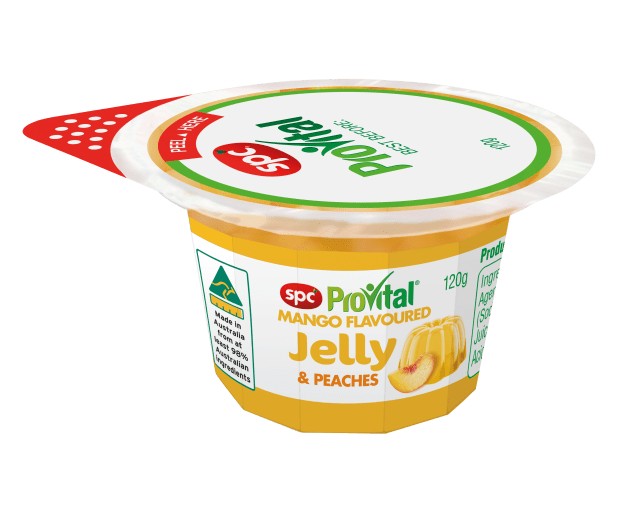 PIDA 2019 Finalist, Accessible Packaging Design: SPC Ardmona for its SPC ProVital Easy-Open Diced Fruit in Jelly range, designed for all consumers to open, including those with reduced fine motor skills, dexterity and strength. On-pack communication is clear and legible to all.