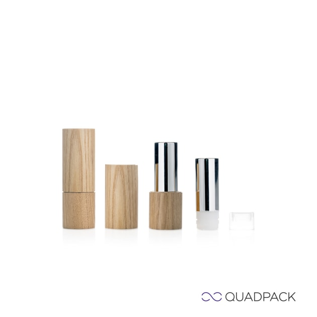 The new YouWood refillable lipstick solution from Quadpack.