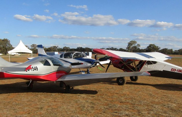 Recreational aircraft in conference in the display area. (Paul Southwick)