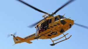 The rescue helicopter in Perth. Photo AMSA.