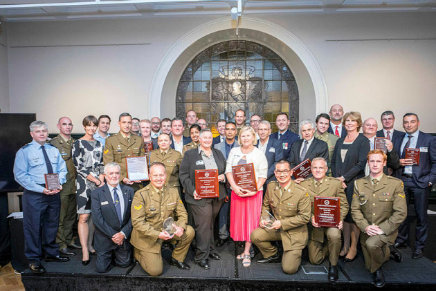 DRSC NSW Employer Support Awards Finalists and Winners. Credit: Defence