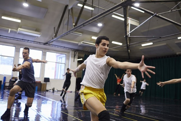 The singer-dancer cast in rehearsal for 'West Side Story'.Photo: KEITH SAUNDERS