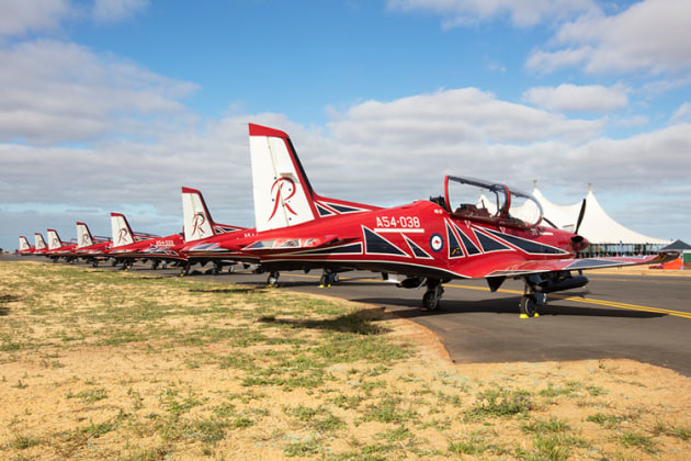 And of course the Roulettes were there to show off their new PC-21s. (Phil Hosking)