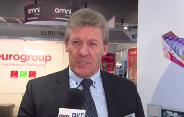 Roy Collins, MD Cama Group Australia, at AUSPACK 2019.