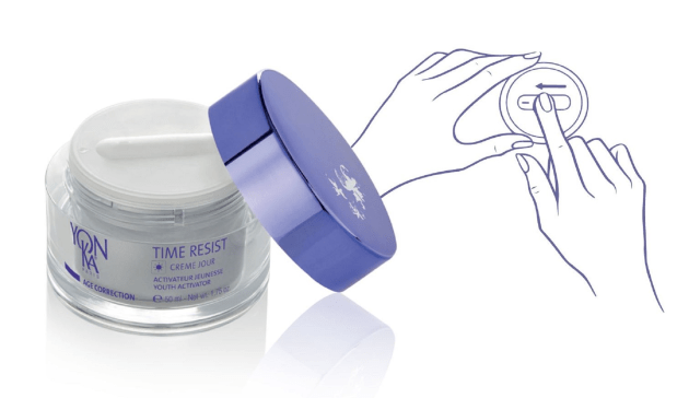 The Slidissime jar with touch-and-slide pump.