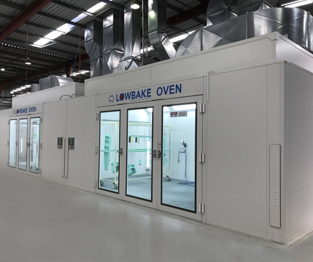 RUAG's grant will be used to automate equipment. This picture is of a fully automated paint booth facility. (RUAG)