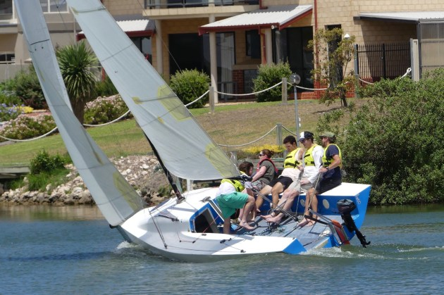 Sailors-needed-to-be-on-their-toes-when it got gusty - Chris-Caffin-pic