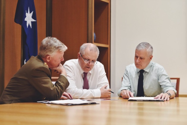 PM Morrison has shuffled Defence ministerial portfolios in his first weekend on the job. Scott Morrison via Twitter
