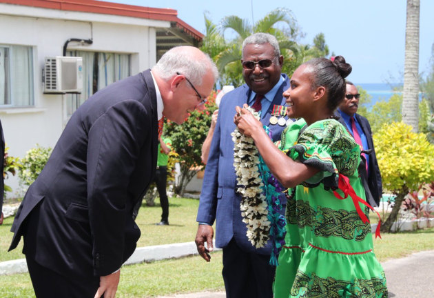 PM Scott Morrison in Vanuatu. @ScottMorrisonMP