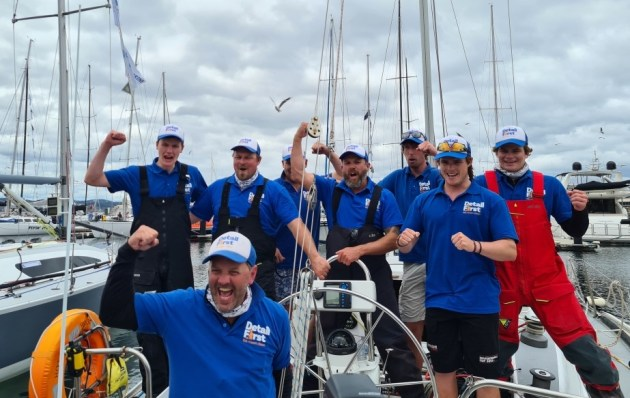 Scott Broadby and the Detail First Team celebrating their win in Hobart Image Scott Brain.