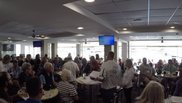 Down Under Rally participants at one of the information sessions at Southport Yacht Club.