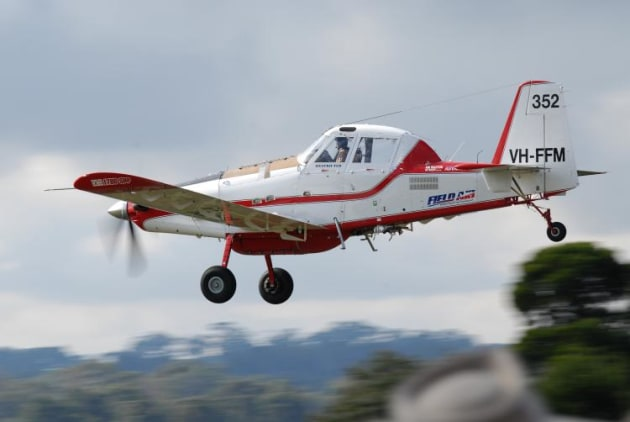 Many aerial ag companies also operate Single Engine Air Tankers (SEAT) and their association has welcomed the announcement of more funding. (Steve Hitchen)