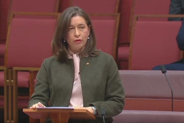 RRAT hearing Chair, Nationals Senator Susan McDonald from Queensland. (still from parlimentary feed0