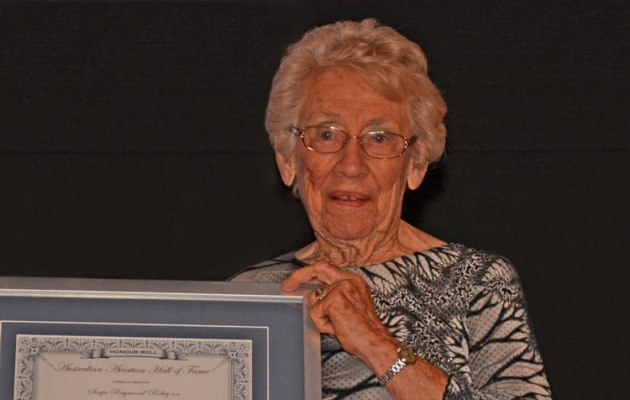Senja Robey: winner of the 2019 Col Pay Award for a Lifetime of Service to General Aviation (Steve Hitchen)