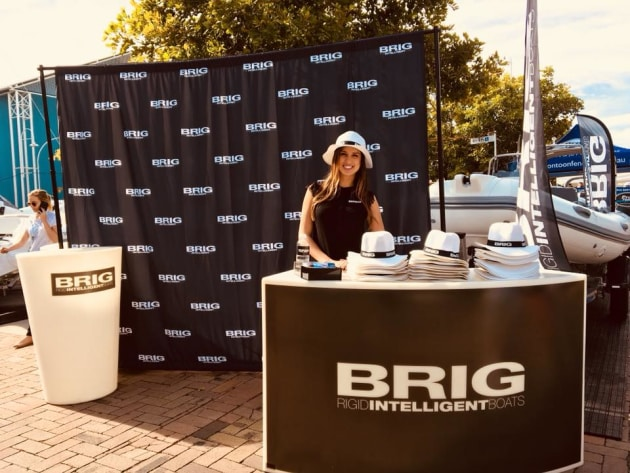 Best boat marketing initiative of 2018? Hats off to the BRIG hats which were everywhere at this year's boat shows, giving great exposure to the brand.