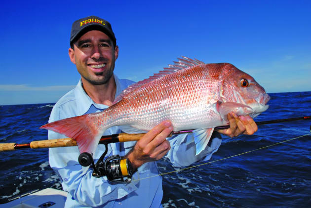 Standard 4-6kg spin tackle loaded with 20-30lb braid is ideal when targeting snapper in water from 30-50m.