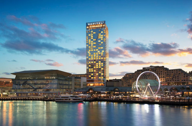 The Sofitel at Darling Harbour. A helipad has been proposed for the roof. (Hook Communications)