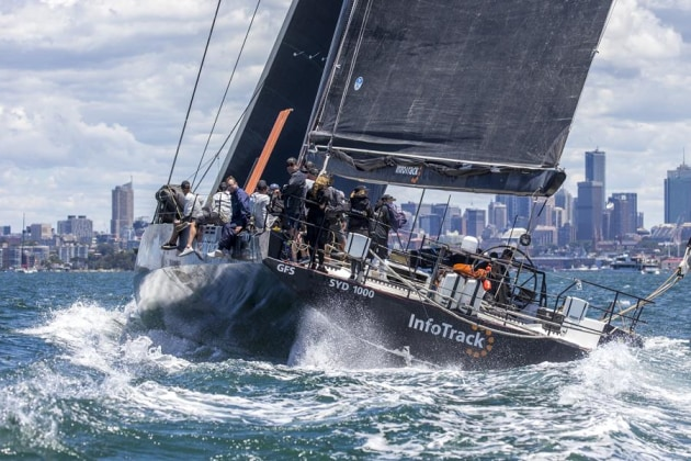 Christian Beck's InfoTrack was all-class in Tuesday's showcase Sydney Harbour race. Credit: Andrea Francolini.