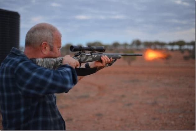 Steve Spiekman - muzzle flash!