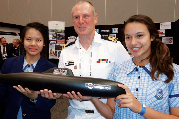The event is aimed at promoting a career in submarines to schoolchildren.