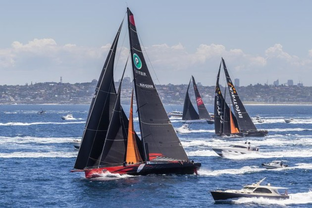 Multiple 100ft supermaxis are lining up once again to battle to be the first yacht to Hobart. Credit - Rolex/Studio Borlenghi
