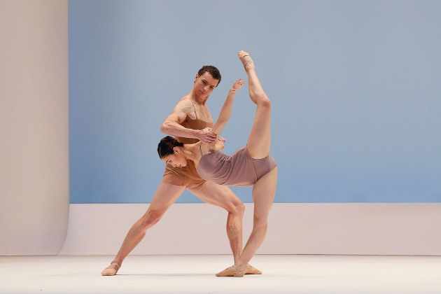 Kevin Jackson and Ako Kondo in 'Chroma', part of the company's triple bill, 'Volt', which had to be cancelled after only three performances. Photo: Jeff Busby.