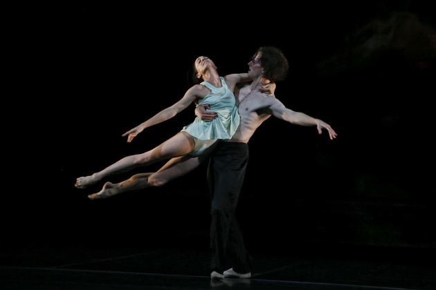 Callum Linnane and Leanne Stojmenov in 'Logos'.