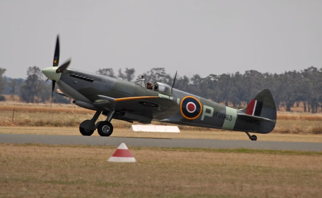 Temora's Mk XVI Spitfire is one of 11 warbirds donated to the Royal Australian Air Force. (Steve Hitchen)