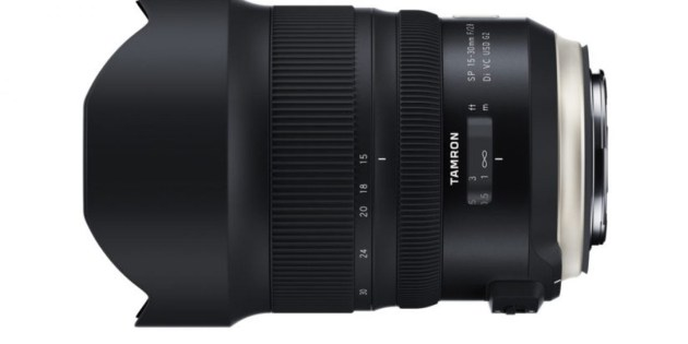 Tamron's new SP 15-30mm F/2.8 Di VC USD G2. With the release of this model, four of Tamron's lenses now carry the G2 (Generation 2) label.