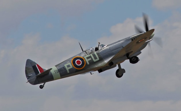 Temora Aviation Museum's Mk XIV Spitfire. (Steve Hitchen)