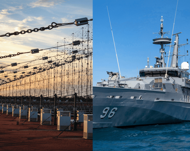 The Jindalee Operational Radar Network (JORN) Sustainment Transition program is up against the Patrol Boat Enterprise.