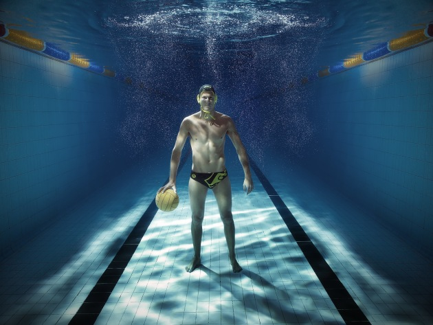 Thomas Whalan, Australian water polo player. © Mark Mawson.