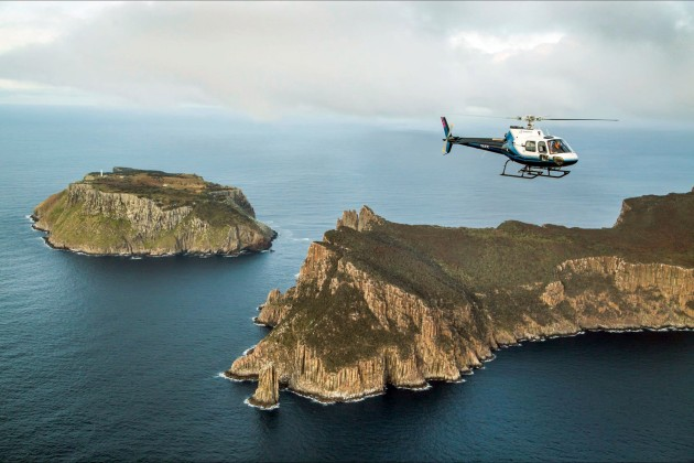 The pièce de résistance is a scenic helicopter ride of Tasman NP so you can see where you've been walking.