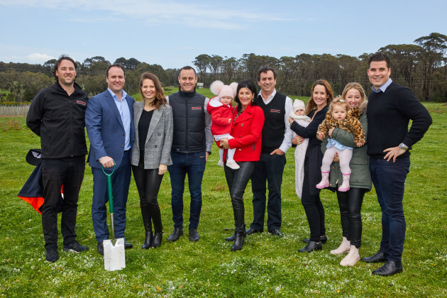 Montague breaks new ground (L-R): Tim Montague, Scott Montague, Jocelyn Montague, Hamish Montague, Susie Montague, Ray Montague, Crystal Montague, Samantha Montague, and Andrew Montague.