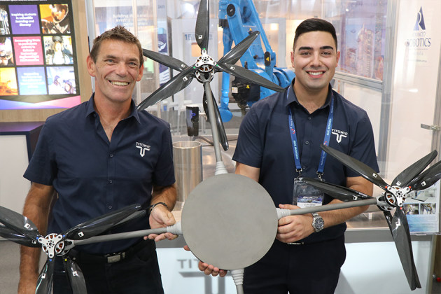 Titomic showed off the breakthrough UAV prototype at the Avalon Airshow.