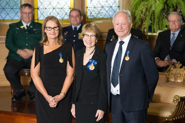 Nadia (left) and Alf Taylor with NSW Governor, Her Excellency the Honourable Margaret Beazley.