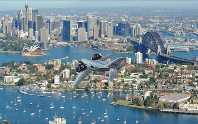 An artist's impression of a Trifan 600 over Sydney. (Heliflite)