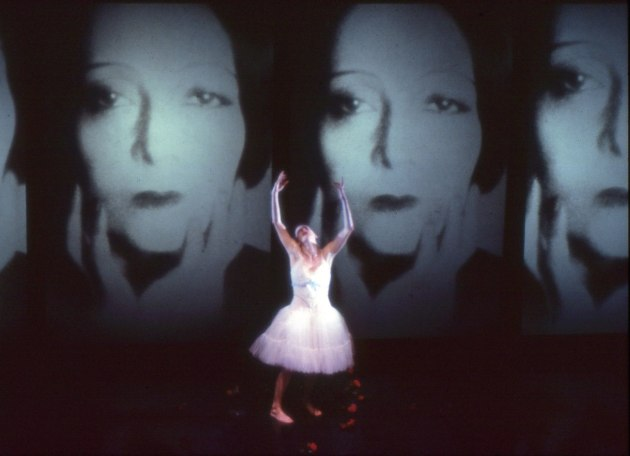 Meryl Tankard performing in the original production of her solo, 'Two Feet'.