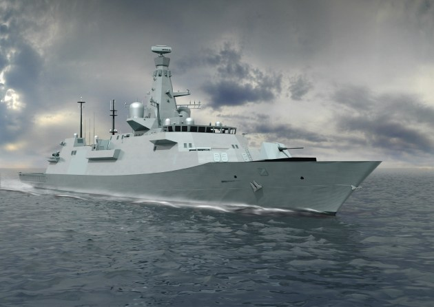 BAE's Type 26 Global Combat Ship is on offer for Sea 5000. Credit: BAE