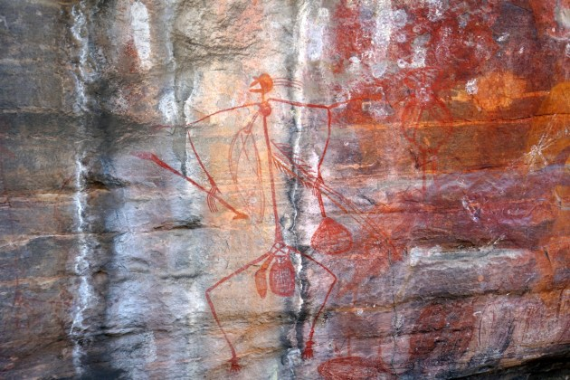 An excellent example of the rock art at Ubirr.