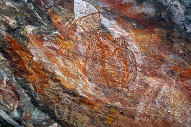 A great example of the rock art at Ubirr.